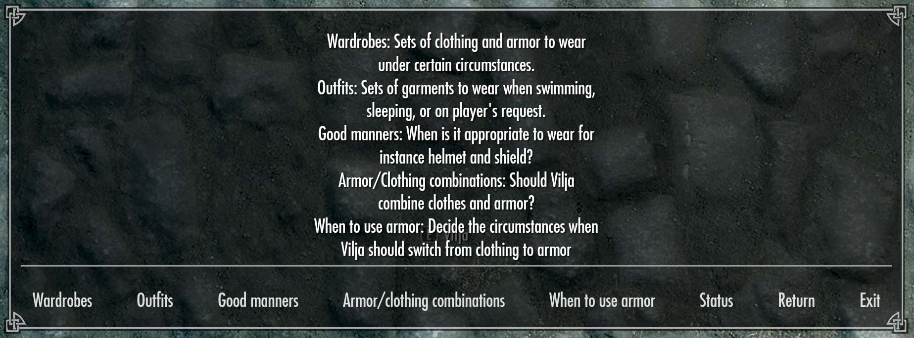 Guide to Vilja's Outfits and Wardrobes | Emma's Elder Scrolls Forum